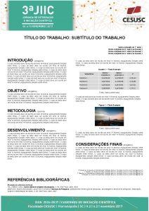 TTULO DO TRABALHO SUBTTULO DO TRABALHO Nome completo