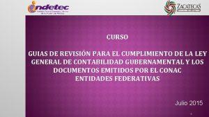 CURSO GUIAS DE REVISIN PARA EL CUMPLIMIENTO DE