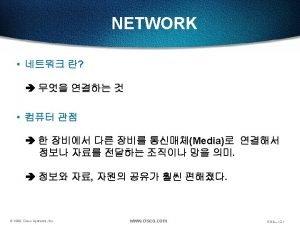 NETWORK 1 LAN Local Area Network 2 WANWide