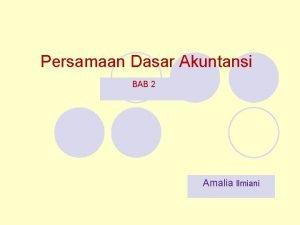 Persamaan Dasar Akuntansi BAB 2 Amalia Ilmiani Definisi