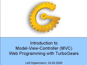 Introduction to ModelViewController MVC Web Programming with Turbo