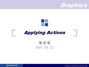 Graphics Applying Actions 2001 08 22 cgvr korea