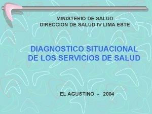 MINISTERIO DE SALUD DIRECCION DE SALUD IV LIMA
