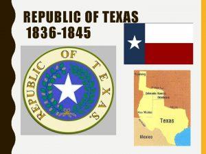 REPUBLIC OF TEXAS 1836 1845 PRESIDENT SAM HOUSTON