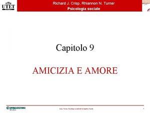 Richard J Crisp Rhiannon N Turner Psicologia sociale