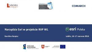 Narzdzia Esri w projekcie RIIP WL Karolina Karpisz