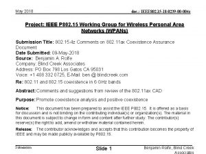 May 2018 doc IEEE 802 15 18 0239