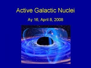 Active Galactic Nuclei Ay 16 April 8 2008