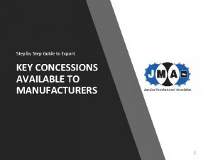 Step by Step Guide to Export KEY CONCESSIONS