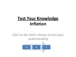 Test Your Knowledge Inflation Click on the letter
