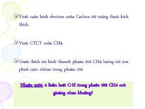 Viet cau hnh electron cua Cacbon trang thai