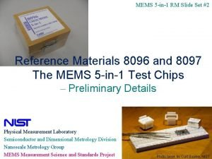 MEMS 5 in1 RM Slide Set 2 Reference