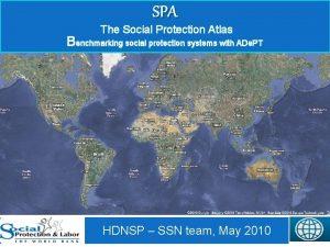SPA The Social Protection Atlas Benchmarking social protection