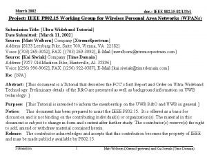 March 2002 doc IEEE 802 15 02133 r