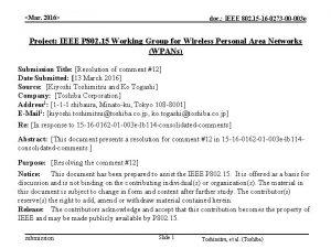 Mar 2016 doc IEEE 802 15 16 0273