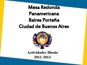Mesa Redonda Panamericana Baires Portea Ciudad de Buenos