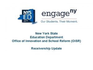 New York State Education Department Office of Innovation