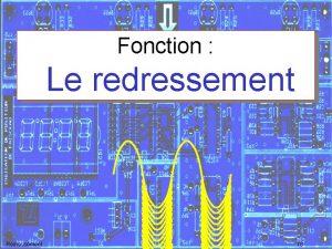 Fonction Le redressement Redressement TS Sommaire Fonction Composant
