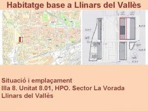 Habitatge base a Llinars del Valls Situaci i