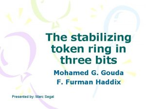 The stabilizing token ring in three bits Mohamed