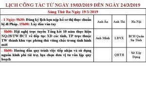 LCH CNG TC T NGY 19032019 N NGY