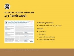 SCIENTIFIC POSTER TEMPLATE 4 3 landscape Suitable for