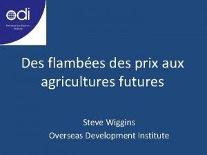 Des flambes des prix aux agricultures futures Steve