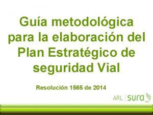 Gua metodolgica para la elaboracin del Plan Estratgico
