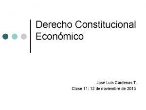 Derecho Constitucional Econmico Jos Luis Crdenas T Clase