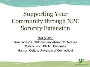 Supporting Your Community through NPC Sorority Extension NGLA