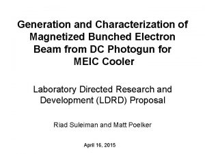 Generation and Characterization of Magnetized Bunched Electron Beam