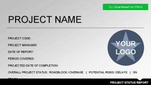 PROJECT NAME PROJECT CODE PROJECT MANAGER DATE OF