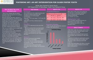 FOSTERING ART AN ART INTERVENTION FOR OLDER FOSTER