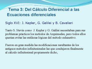 Tema 3 Del Clculo Diferencial a las Ecuaciones