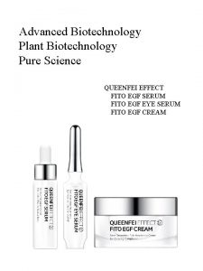 Advanced Biotechnology Plant Biotechnology Pure Science QUEENFEI EFFECT