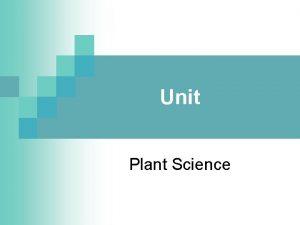 Unit Plant Science Problem Area Initiating Plant Growth