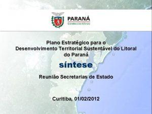 Plano Estratgico para o Desenvolvimento Territorial Sustentvel do