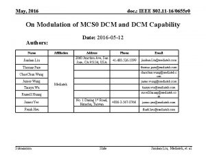 May 2016 doc IEEE 802 11 160655 r