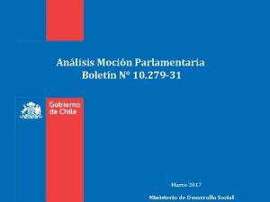Anlisis Mocin Parlamentaria Boletn N 10 279 31