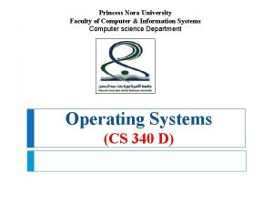 Princess Nora University Faculty of Computer Information Systems