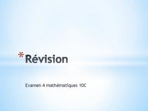 Examen 4 mathmatiques 10 C Trigonomtrie Factorisation exposants