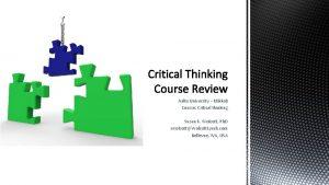 Aalto University Mikkeli Course Critical thinking Susan K