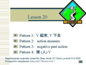 Lesson 20 Pattern 1 Pattern 2 Pattern 3
