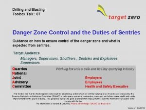 Drilling and Blasting Toolbox Talk 07 Danger Zone