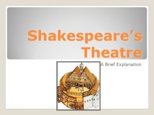 Shakespeares Theatre A Brief Explanation In Shakespeares time