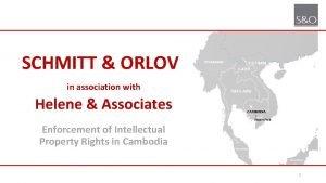 SCHMITT ORLOV in association with Helene Associates Enforcement