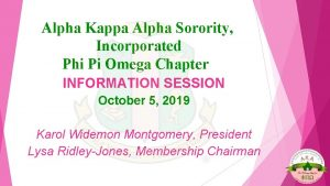Alpha Kappa Alpha Sorority Incorporated Phi Pi Omega