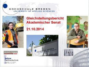Gleichstellungsbericht Akademischer Senat 21 10 2014 Neustadtswall 30