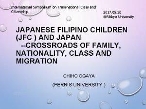 International Symposium on Transnational Class and Citizenship 2017