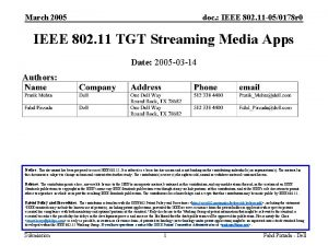 March 2005 doc IEEE 802 11 050178 r